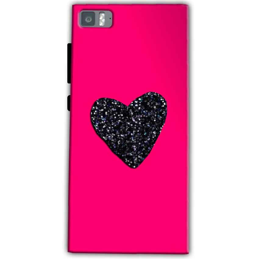 Xiaomi Mi 3 Mobile Covers Cases Pink Glitter Heart - Lowest Price - Paybydaddy.com