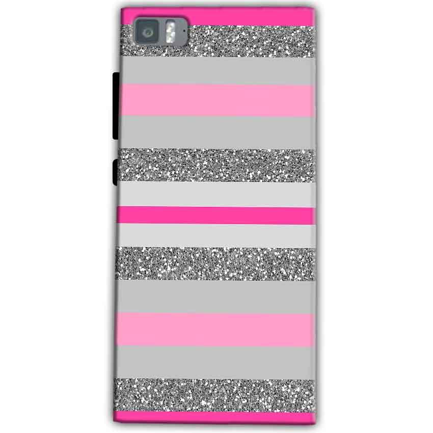 Xiaomi Mi 3 Mobile Covers Cases Pink colour pattern - Lowest Price - Paybydaddy.com