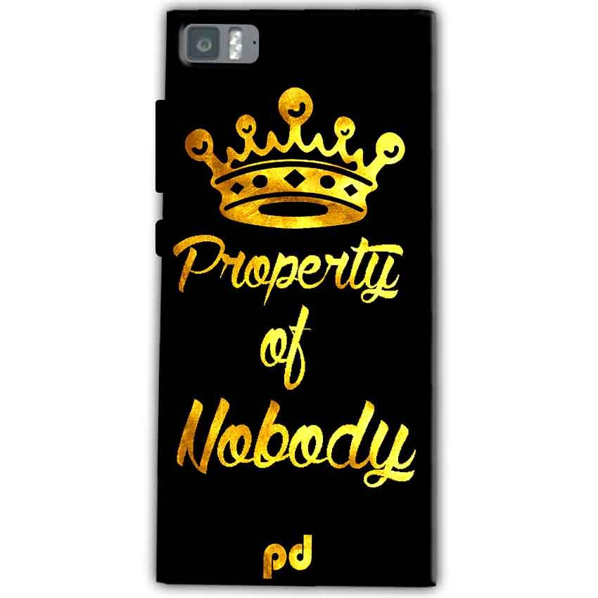 Xiaomi Mi 3 Mobile Covers Cases Property of nobody with Crown - Lowest Price - Paybydaddy.com
