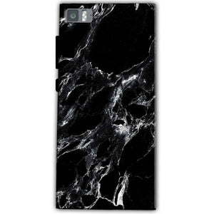 Xiaomi Mi 3 Mobile Covers Cases Pure Black Marble Texture - Lowest Price - Paybydaddy.com