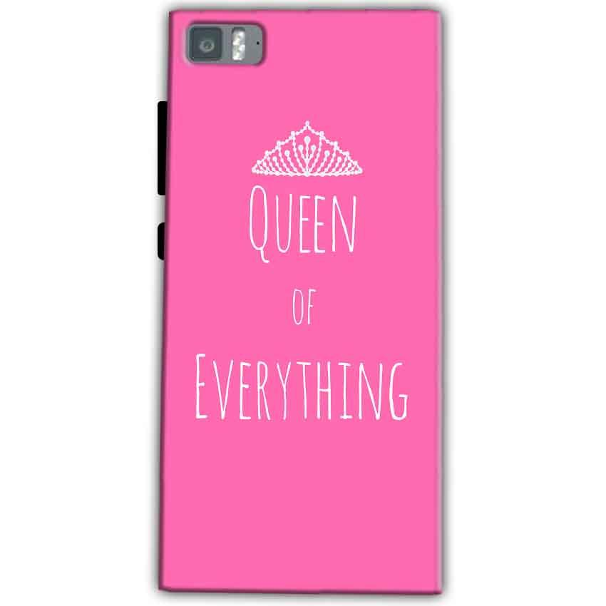 Xiaomi Mi 3 Mobile Covers Cases Queen Of Everything Pink White - Lowest Price - Paybydaddy.com