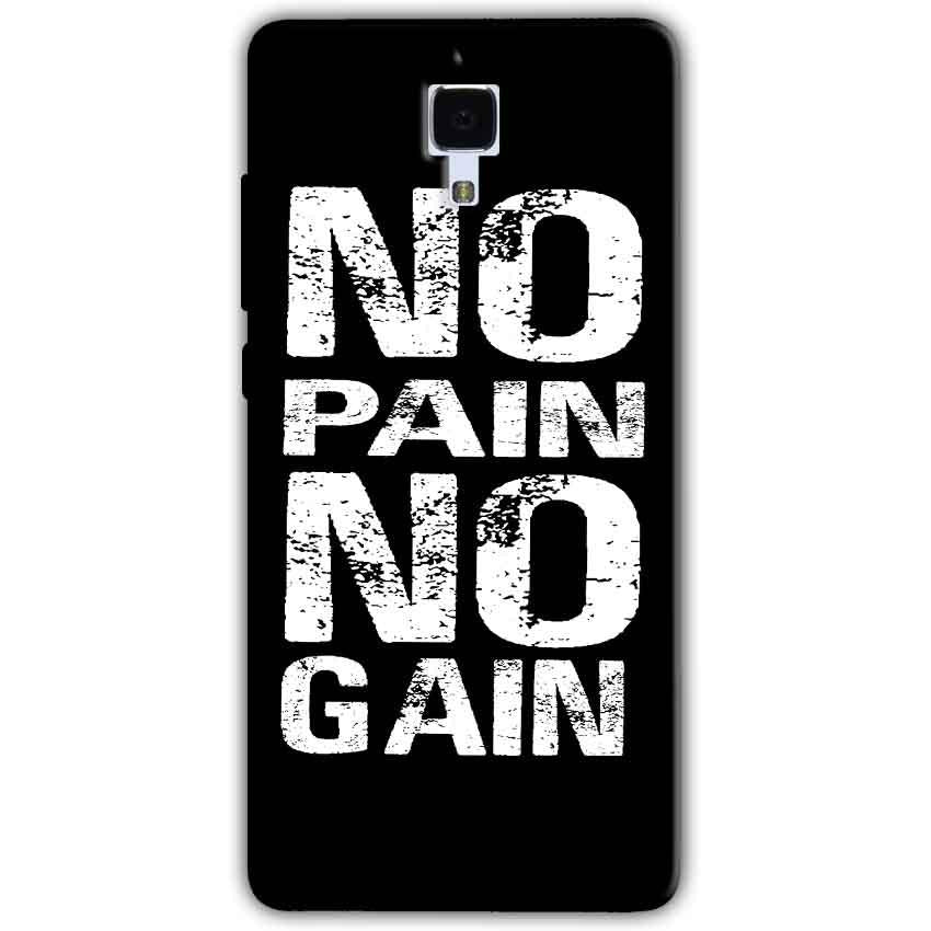 Xiaomi Mi 4 Mobile Covers Cases No Pain No Gain Black And White - Lowest Price - Paybydaddy.com