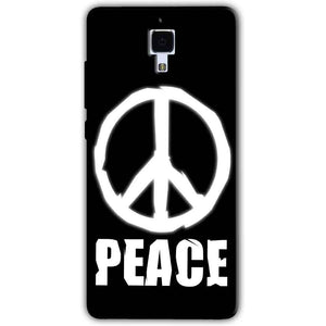 Xiaomi Mi 4 Mobile Covers Cases Peace Sign In White - Lowest Price - Paybydaddy.com