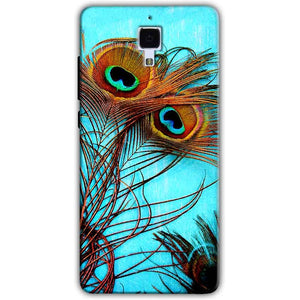 Xiaomi Mi 4 Mobile Covers Cases Peacock blue wings - Lowest Price - Paybydaddy.com