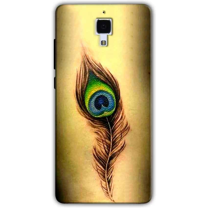 Xiaomi Mi 4 Mobile Covers Cases Peacock coloured art - Lowest Price - Paybydaddy.com