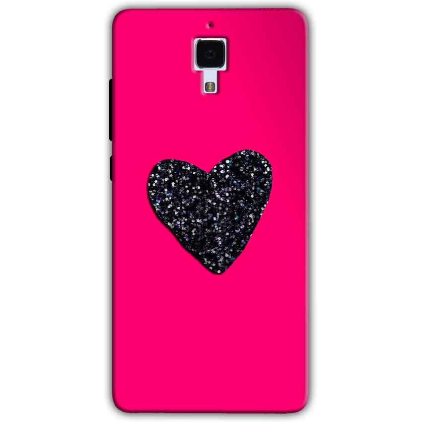 Xiaomi Mi 4 Mobile Covers Cases Pink Glitter Heart - Lowest Price - Paybydaddy.com