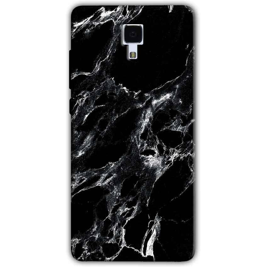 Xiaomi Mi 4 Mobile Covers Cases Pure Black Marble Texture - Lowest Price - Paybydaddy.com