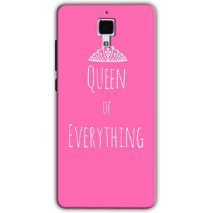 Xiaomi Mi 4 Mobile Covers Cases Queen Of Everything Pink White - Lowest Price - Paybydaddy.com