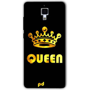 Xiaomi Mi 4 Mobile Covers Cases Queen With Crown in gold - Lowest Price - Paybydaddy.com