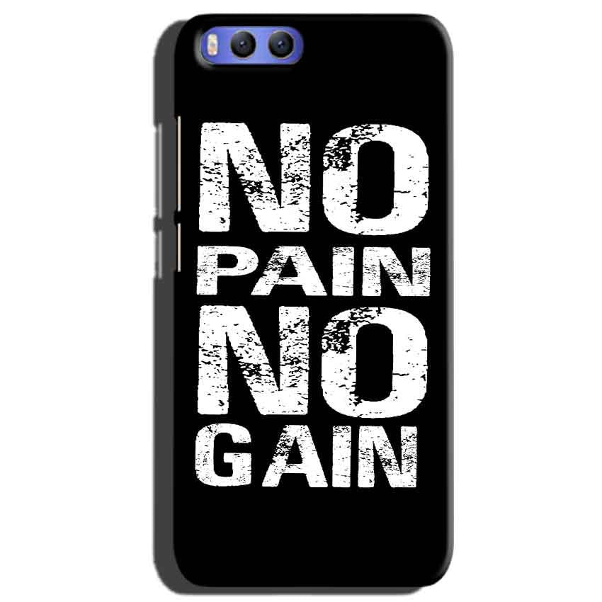 Xiaomi Mi 6 Mobile Covers Cases No Pain No Gain Black And White - Lowest Price - Paybydaddy.com