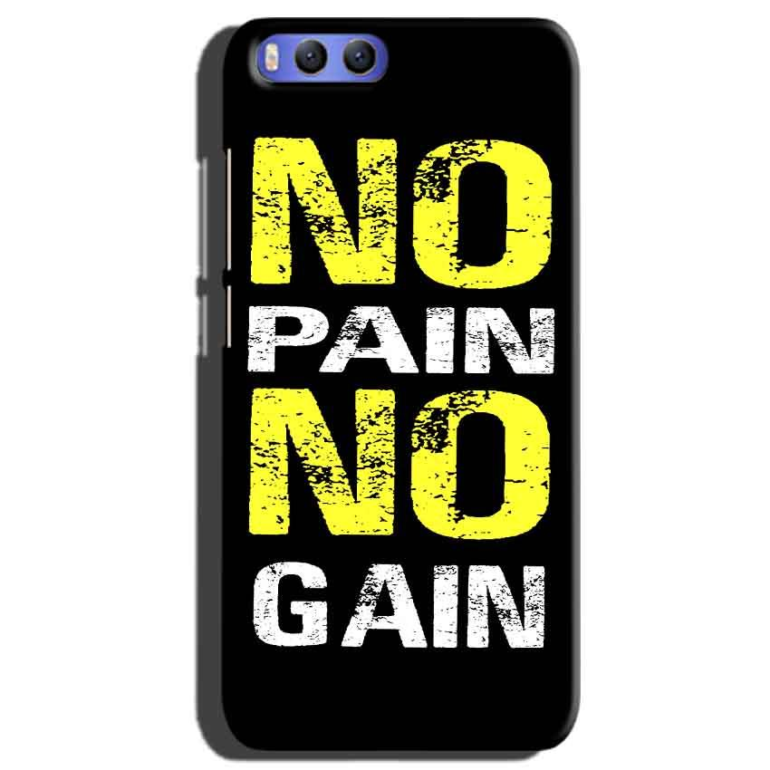 Xiaomi Mi 6 Mobile Covers Cases No Pain No Gain Yellow Black - Lowest Price - Paybydaddy.com