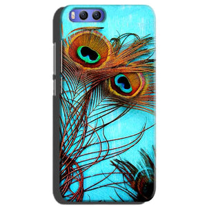 Xiaomi Mi 6 Mobile Covers Cases Peacock blue wings - Lowest Price - Paybydaddy.com