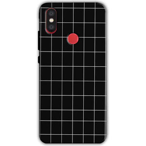 Xiaomi Mi A2 Mi 6X Mobile Covers Cases Black with White Checks - Lowest Price - Paybydaddy.com