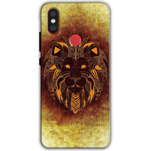 Xiaomi Mi A2 Mi 6X Mobile Covers Cases Lion face art - Lowest Price - Paybydaddy.com
