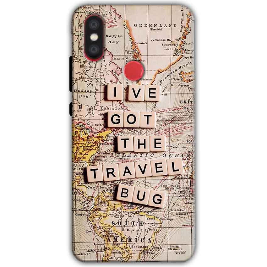 Xiaomi Mi A2 Mi 6X Mobile Covers Cases Live Travel Bug - Lowest Price - Paybydaddy.com