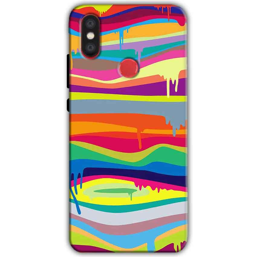 Xiaomi Mi A2 Mi 6X Mobile Covers Cases Melted colours - Lowest Price - Paybydaddy.com