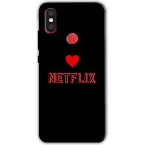 Xiaomi Mi A2 Mi 6X Mobile Covers Cases NETFLIX WITH HEART - Lowest Price - Paybydaddy.com