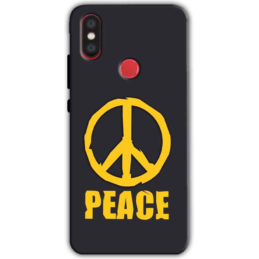 Xiaomi Mi A2 Mi 6X Mobile Covers Cases Peace Blue Yellow - Lowest Price - Paybydaddy.com