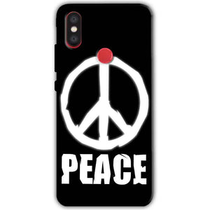 Xiaomi Mi A2 Mi 6X Mobile Covers Cases Peace Sign In White - Lowest Price - Paybydaddy.com