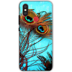 Xiaomi Mi A2 Mi 6X Mobile Covers Cases Peacock blue wings - Lowest Price - Paybydaddy.com
