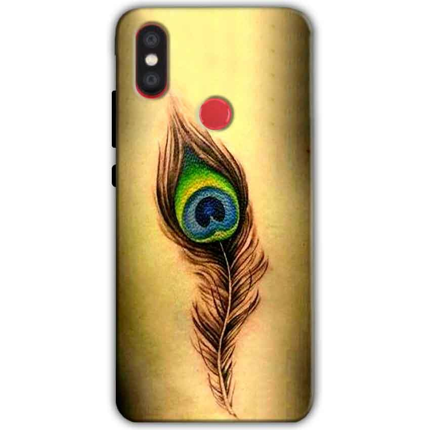 Xiaomi Mi A2 Mi 6X Mobile Covers Cases Peacock coloured art - Lowest Price - Paybydaddy.com