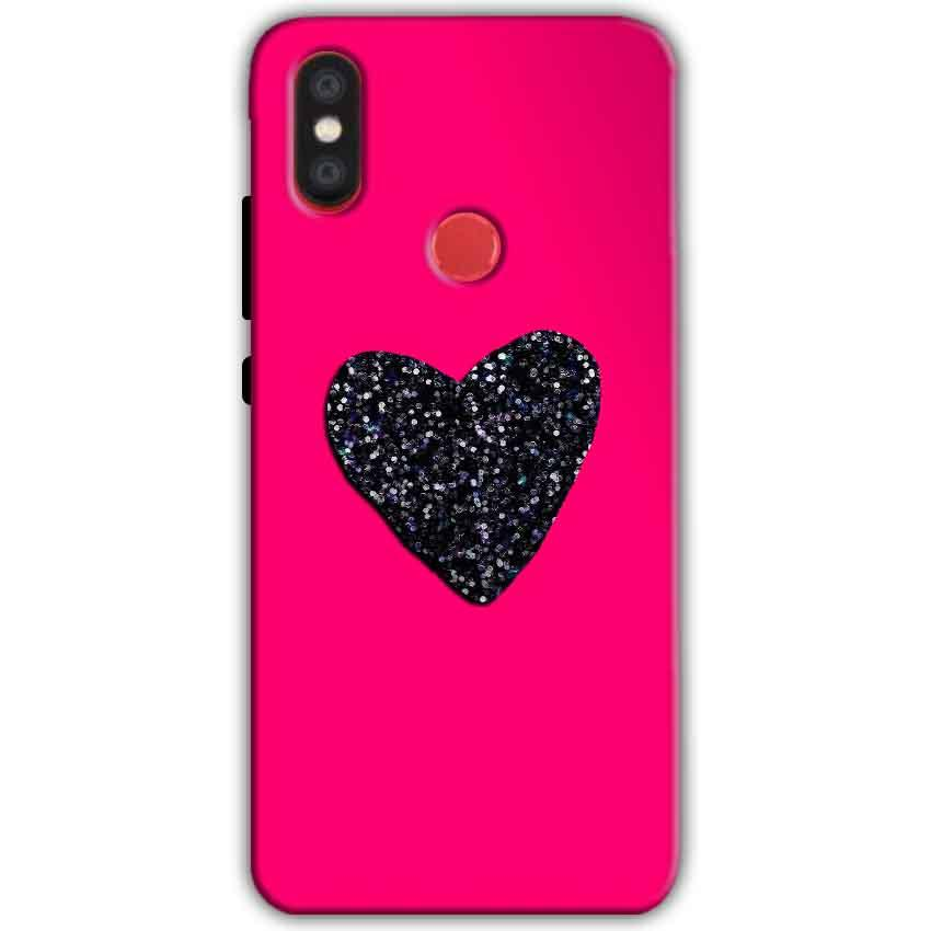 Xiaomi Mi A2 Mi 6X Mobile Covers Cases Pink Glitter Heart - Lowest Price - Paybydaddy.com