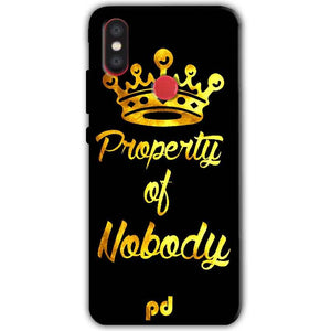 Xiaomi Mi A2 Mi 6X Mobile Covers Cases Property of nobody with Crown - Lowest Price - Paybydaddy.com