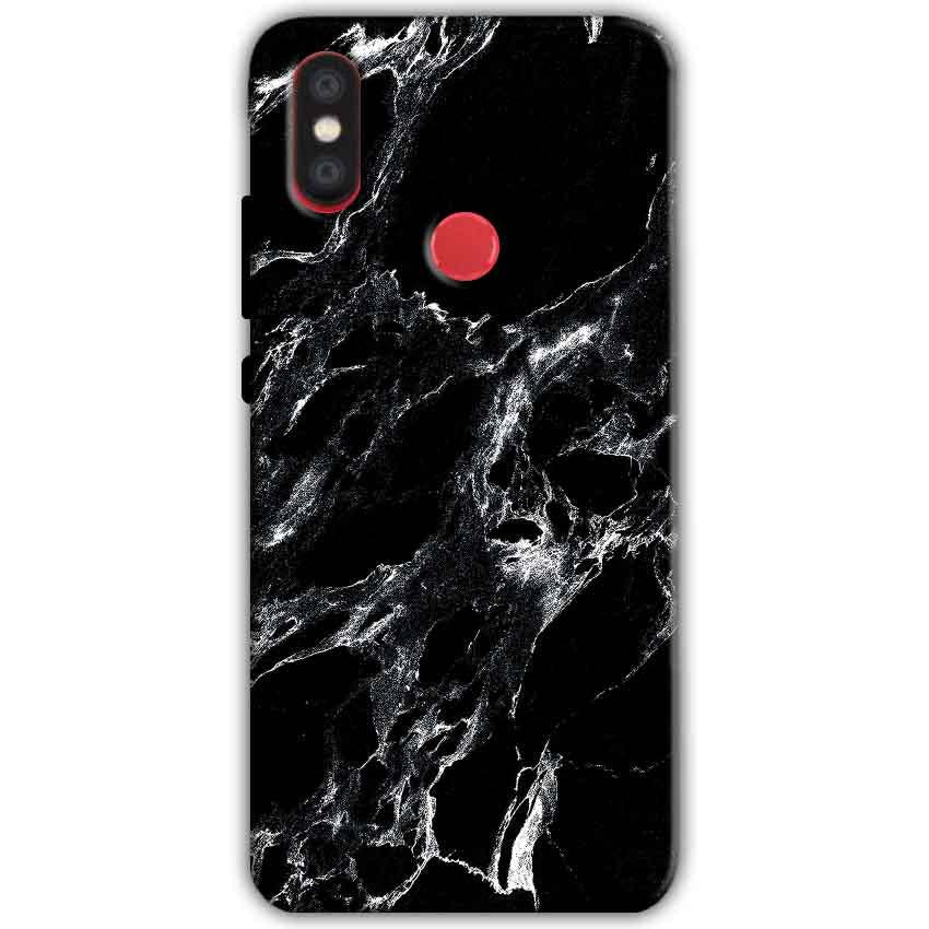 Xiaomi Mi A2 Mi 6X Mobile Covers Cases Pure Black Marble Texture - Lowest Price - Paybydaddy.com