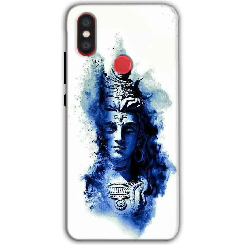 Xiaomi Mi A2 Mi 6X Mobile Covers Cases Shiva Blue White - Lowest Price - Paybydaddy.com