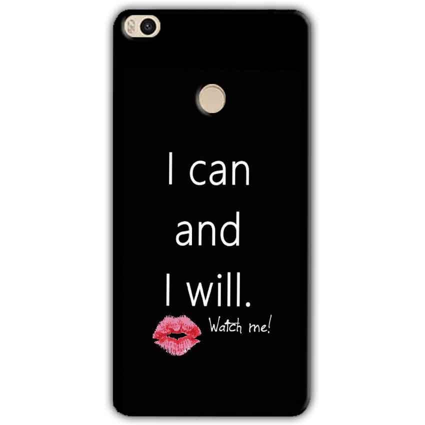 Xiaomi Mi Max 2 Mobile Covers Cases i can and i will Lips - Lowest Price - Paybydaddy.com