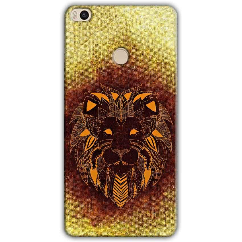 Xiaomi Mi Max 2 Mobile Covers Cases Lion face art - Lowest Price - Paybydaddy.com