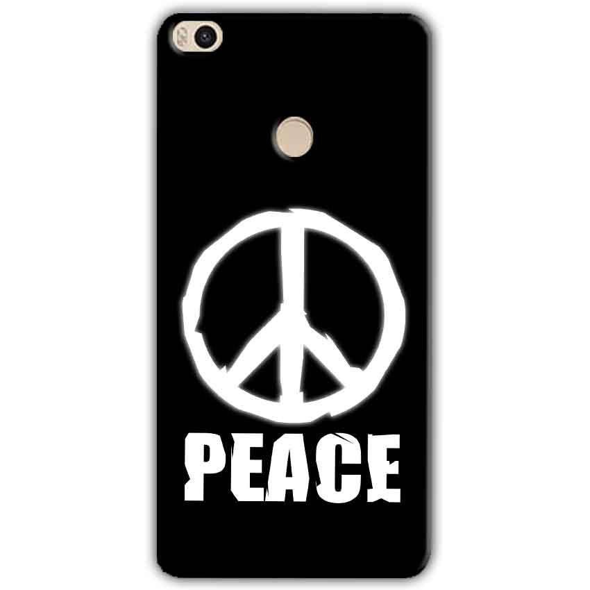 Xiaomi Mi Max 2 Mobile Covers Cases Peace Sign In White - Lowest Price - Paybydaddy.com