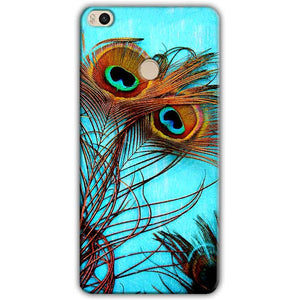 Xiaomi Mi Max 2 Mobile Covers Cases Peacock blue wings - Lowest Price - Paybydaddy.com