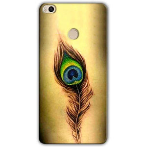 Xiaomi Mi Max 2 Mobile Covers Cases Peacock coloured art - Lowest Price - Paybydaddy.com