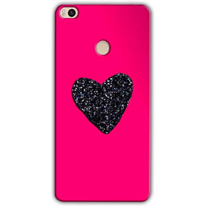 Xiaomi Mi Max 2 Mobile Covers Cases Pink Glitter Heart - Lowest Price - Paybydaddy.com
