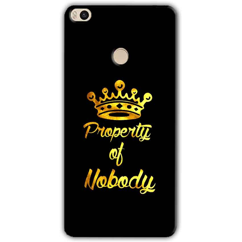 Xiaomi Mi Max 2 Mobile Covers Cases Property of nobody with Crown - Lowest Price - Paybydaddy.com