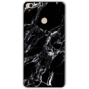 Xiaomi Mi Max 2 Mobile Covers Cases Pure Black Marble Texture - Lowest Price - Paybydaddy.com