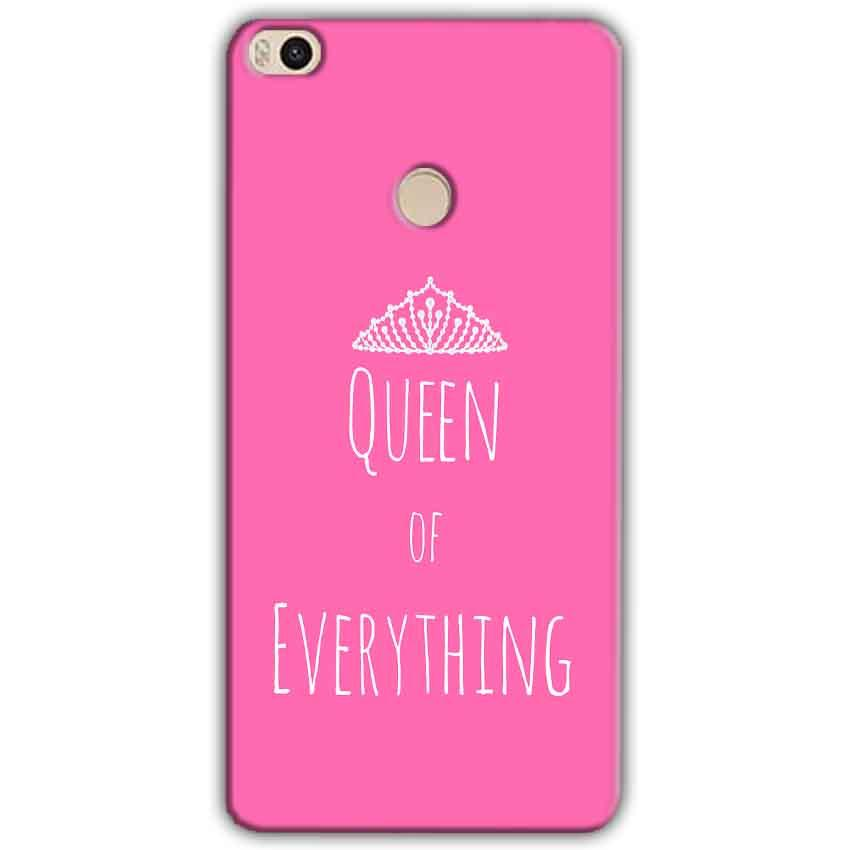Xiaomi Mi Max 2 Mobile Covers Cases Queen Of Everything Pink White - Lowest Price - Paybydaddy.com