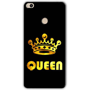Xiaomi Mi Max 2 Mobile Covers Cases Queen With Crown in gold - Lowest Price - Paybydaddy.com