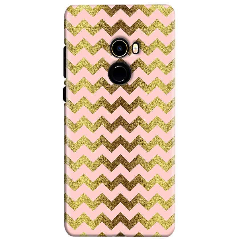 Xiaomi Mi Mix 2 Mobile Covers Cases Golden Zig Zag Pattern - Lowest Price - Paybydaddy.com