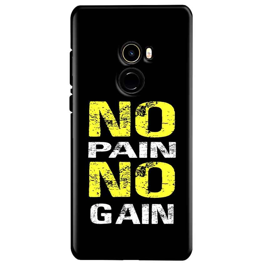 Xiaomi Mi Mix 2 Mobile Covers Cases No Pain No Gain Yellow Black - Lowest Price - Paybydaddy.com