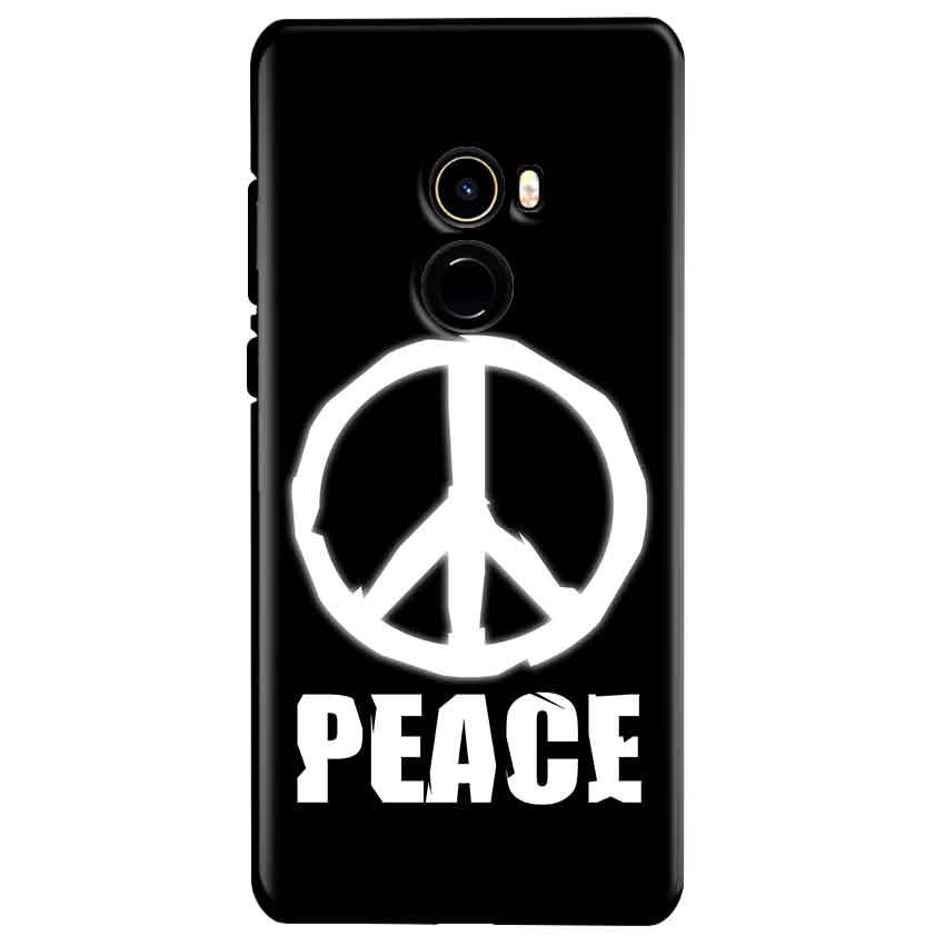 Xiaomi Mi Mix 2 Mobile Covers Cases Peace Sign In White - Lowest Price - Paybydaddy.com