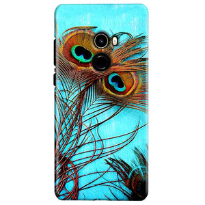 Xiaomi Mi Mix 2 Mobile Covers Cases Peacock blue wings - Lowest Price - Paybydaddy.com