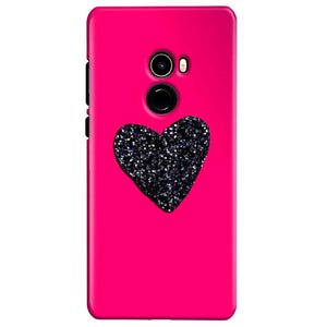Xiaomi Mi Mix 2 Mobile Covers Cases Pink Glitter Heart - Lowest Price - Paybydaddy.com