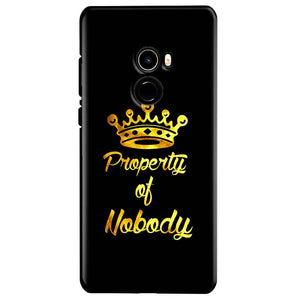 Xiaomi Mi Mix 2 Mobile Covers Cases Property of nobody with Crown - Lowest Price - Paybydaddy.com