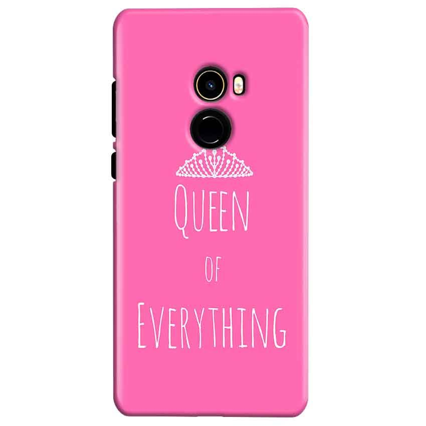 Xiaomi Mi Mix 2 Mobile Covers Cases Queen Of Everything Pink White - Lowest Price - Paybydaddy.com