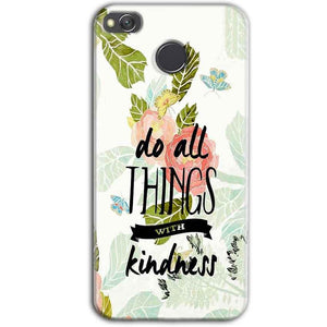 Xiaomi Redmi 3S Prime Mobile Covers Cases Do all things with kindness - Lowest Price - Paybydaddy.com
