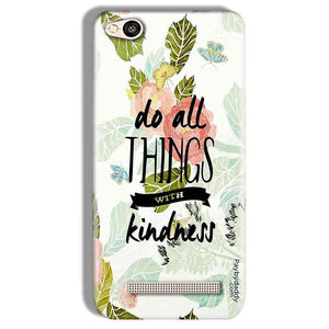 Xiaomi Redmi 4A Mobile Covers Cases Do all things with kindness - Lowest Price - Paybydaddy.com