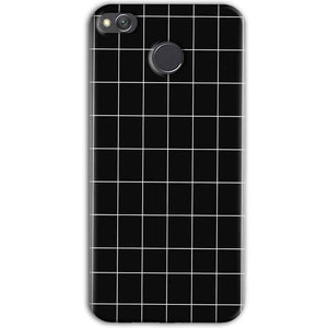 Xiaomi Redmi 4 Mobile Covers Cases Black with White Checks - Lowest Price - Paybydaddy.com