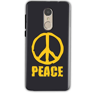 Xiaomi Redmi Note 4 Mobile Covers Cases Peace Blue Yellow - Lowest Price - Paybydaddy.com